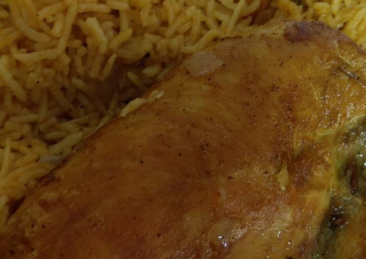 الصورة الرئيسية لوصفةدجاج مقلي بالرز الأحمر
