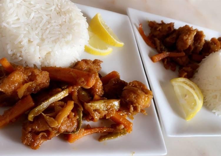الصورة الرئيسية لوصفةالدجاج بالخضار بالطريقة الصينيه ✨