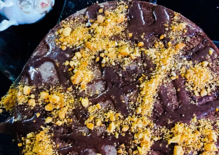 الصورة الرئيسية لوصفةكيكة باللبن التركي والشوكولاتة 👌☕😋