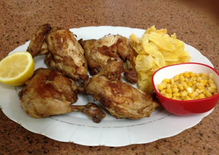 الصورة الرئيسية لوصفةطريقة عمل الدجاج المقلي المقرمش