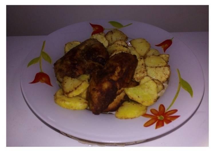 الصورة الرئيسية لوصفةدجاج مقلي مع بطاطس 1