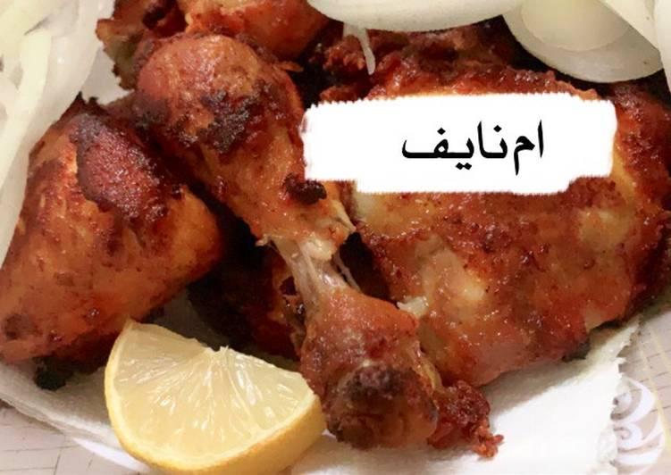 الصورة الرئيسية لوصفةدجاج مقلي 👌🍗 1