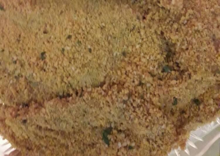الصورة الرئيسية لوصفةشنيتسل بلا بيض دجاج مقلي بفتات الخبز
