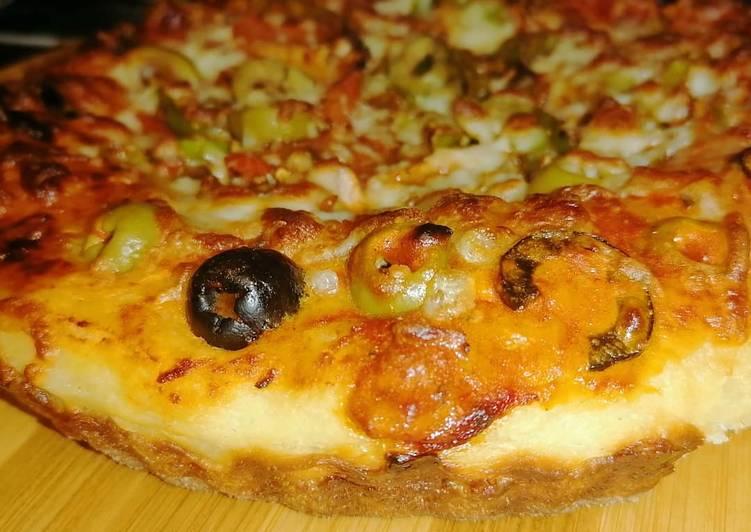 الصورة الرئيسية لوصفةكيكه البيتزا المكسيكيه بالخضار والصويا صوص ومحشيه الاطراف بالجبن 1