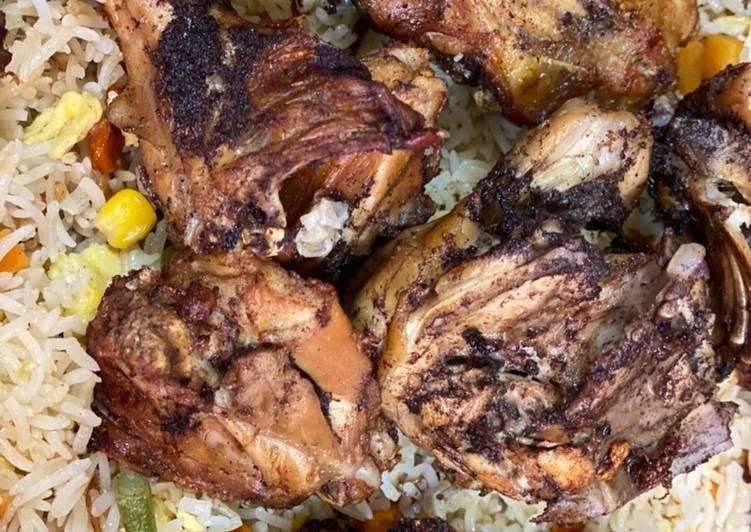 الصورة الرئيسية لوصفةارزق مقلي بالبيض مع دجاج مقلي 1