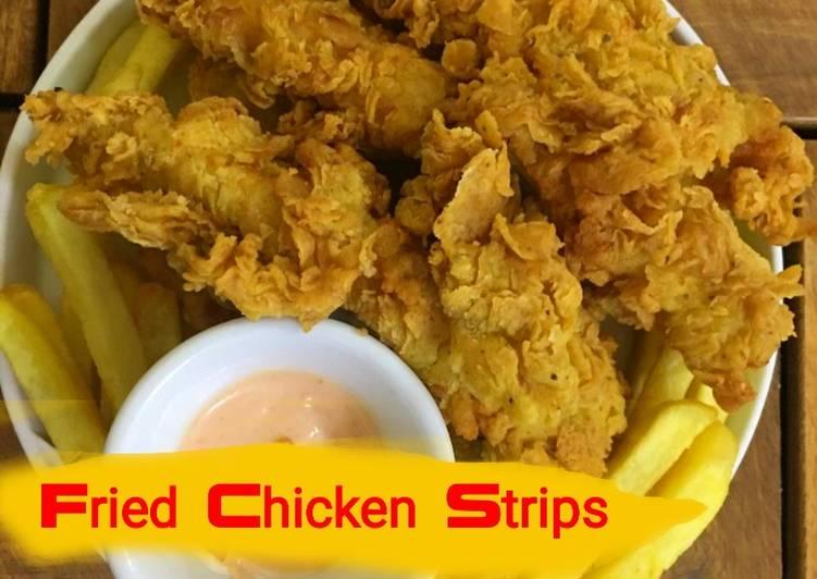 الصورة الرئيسية لوصفةأقوى طريقة لعمل استربس الدجاج كالمطاعم fried chicken strips 1