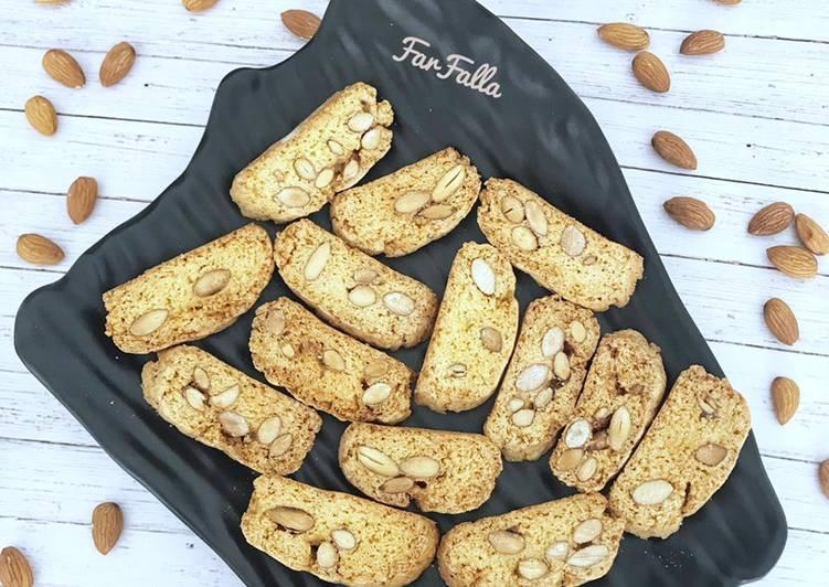 الصورة الرئيسية لوصفةبيسكوتّي باللّوز biscotti 🇮🇹 1
