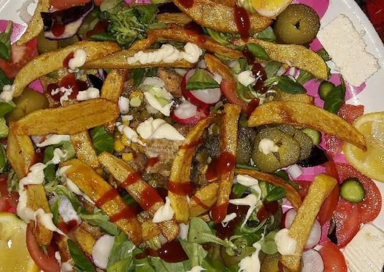 الصورة الرئيسية لوصفةصدور الدجاج مع البطاطا المقليه 1