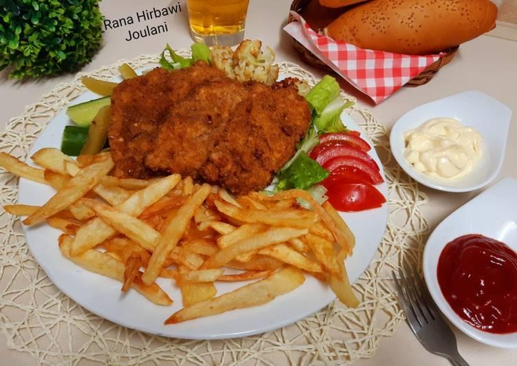 الصورة الرئيسية لوصفةستيك دجاج مقلي مقرمش 1